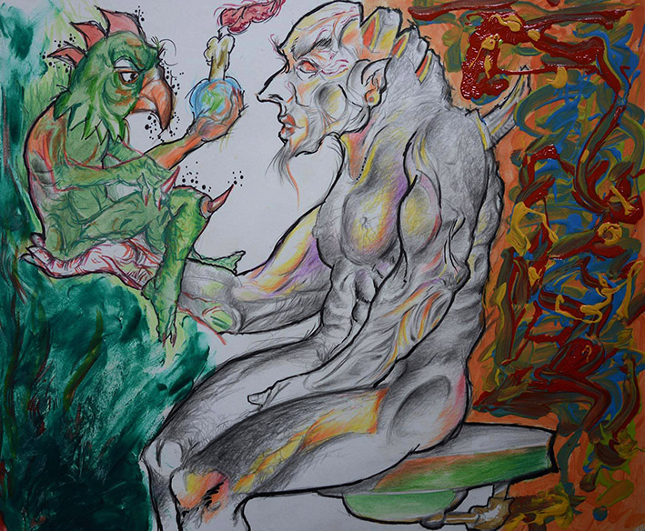 Fausto vendeu a alma ao Diabo (Faust sold the soul to the devil)